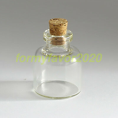2PCS 22*28mm Clear Mini Small Cork Stopper Glass Vial Jars Containers Bottles