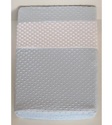 Minky Changing Change Pad Mat Cover Blue Nursery