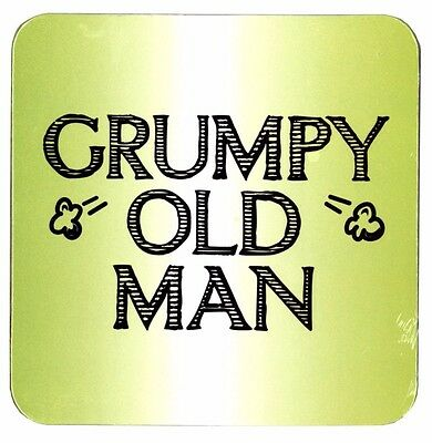 Grumpy Old Man Novelty Coaster Cork Based Fathers Day Gift Funny Present