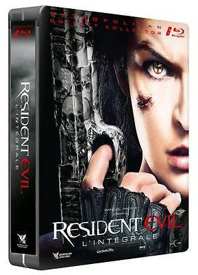 COFFRET  blu-ray RESIDENT EVIL L'INTEGRALE édition steelbook