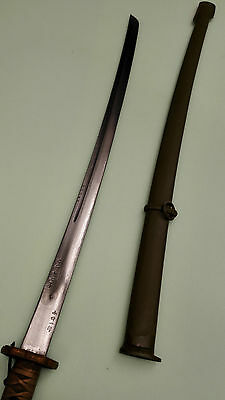 Antique Collectable WW2 Japanese Military Officer Sword Steel Scabbard Replica