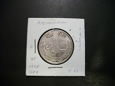 Afghanistan 1925 (1304) 1 Afghani Silver foreign coin
