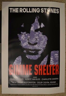 Frank Kozik - The Rolling Stones - Gimme Shelter - Movie Promo Poster