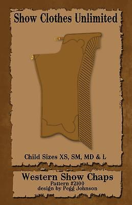 Western Show Chap Pattern #2105 - Child Equestrian Wear Sewing Pattern