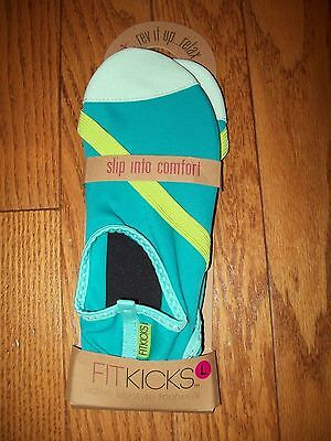 Fitkicks  * Turqouise Blue Slippers Shoes Nwt New! * L  8.5 - 9.5