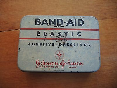 Band Aid Adhesive Dressing Johnson and Johnson Vintage Tin **FREE POSTAGE**