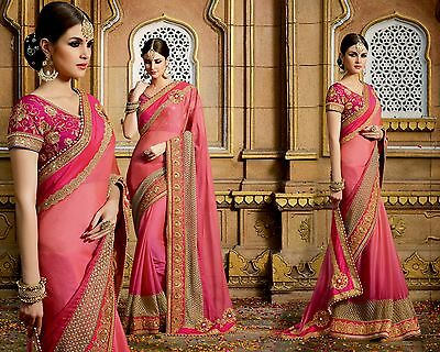 Latest Indian Designer Sari Pakistani Embroidered Wedding Party wear Saree
