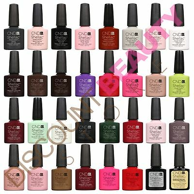 CND Shellac UV Gel 14+ Day Nail Polish CHOOSE ANY Colours, Top Coat or Base Coat