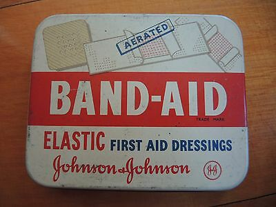 Band Aid Elastic First Aid Dressing Johnson & Johnson Vintage Tin *FREE POSTAGE*