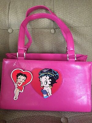 Betty Boop Purse! Biker Design. Pink. NWT! Super Cute And Great Size!