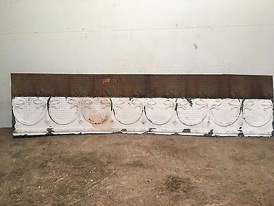 "1 - 48"" x 12"" Antique Ceiling Tin Tile Vintage Reclaimed Salvage Re Purpose Art"