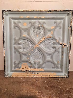 "1 - 18"" x 18"" Antique Ceiling Tin Tile Vintage Reclaimed Salvage Re Purpose Art"