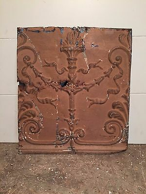 "1 - 12"" x 12"" Antique Ceiling Tin Tile Vintage Reclaimed Salvage Re Purpose Art"