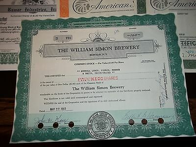 Lot Of 9 Asst Stock Certificates