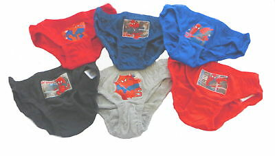 Spiderman Boys 6 Pack Briefs / Underpants 7-8 Years Reduced to Clear