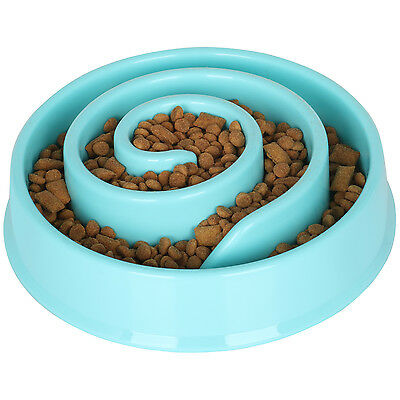 DIGIFLEX Blue Slow Feeding Plastic Dog Food Bowl Maze Improves Digestion Reduces