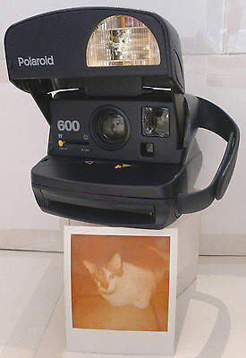 Polaroid 600 One Step Express Blue Instant Film Camera +NEW FILM TESTED