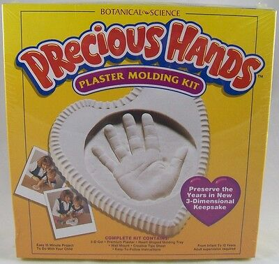 NEW Precious Hands Plaster Molding Kit Heart Mold Child Craft Toy Baby Shower