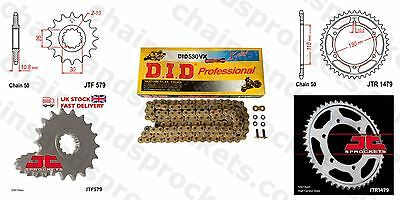 DID X Ring Gold Chain Kit 17/47t 530/120 fit Yamaha YZF R1 (14B,1KB) 09-14