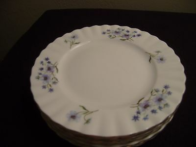 6 RICHMOND (Royal Albert) Blue Rock 6 1/4 Inch Tea or Bread & Butter Plates