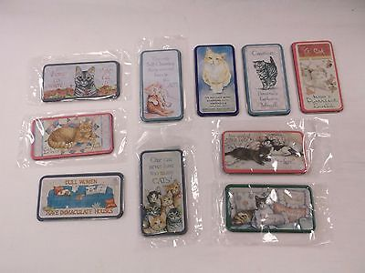 10 NOS Vintage Cats Kittens Humorous Magnets Fun For Cat Lovers Give as Gifts!