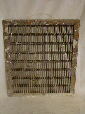 Vintage 1920S Iron Heating Grate Rectangular Design 17.75 X 15.75 A