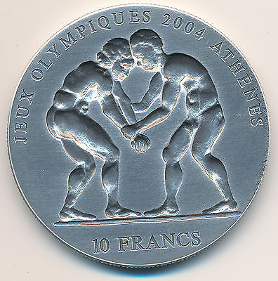 Congo 10 Francs 2003 1oz .999 Silver - Issued for 2004 Athens Olympics