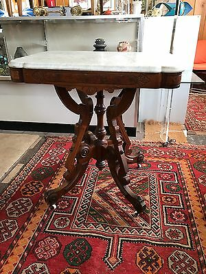 Antique Eastlake Marble Top Table