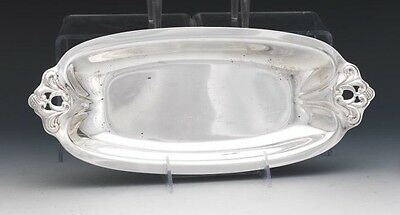 "International Sterling Silver Oval Pastry Tray, ""Royal Danish"" Pattern"