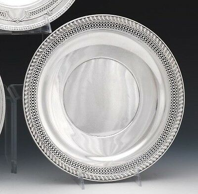 """Watson Sterling Silver Footed Plate Tray w/ Reticulated Scroll Border 10.5"""""""