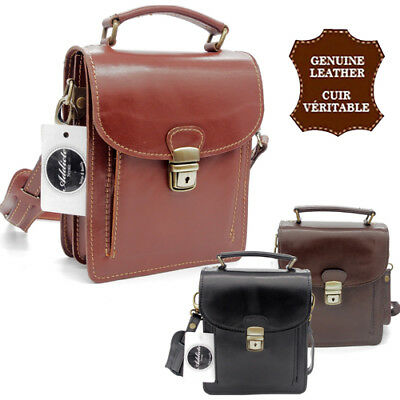 Satchel Genuine Leather Italian Bag Baiseenville Shoulder Strap Man