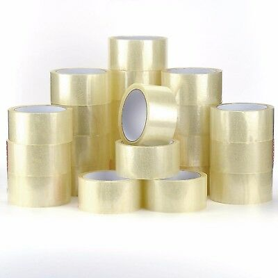 "12 Rolls Clear Parcel Packing Packaging Sellotape Box Sealing 2"" 48Mm X 66M Tape"