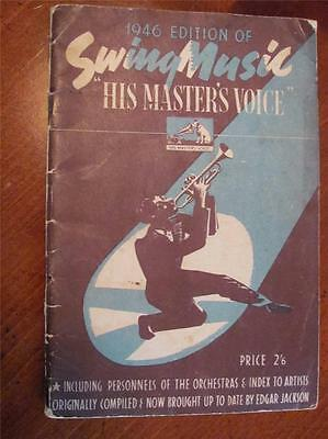 Vtg 1946 Edition Swing Music Artists Orchestra His Master's Voice Record Catalog