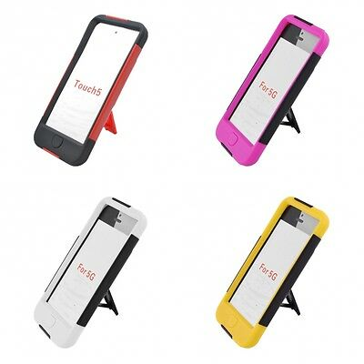 For iPod Touch 5th Gen Case Slim Armor Hard Soft Dual Layer Cover With Stand