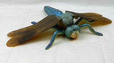 """Large 16"""" Wing Span Dragonfly Insect Toy Figure Vinyle Blue Giant Bug Garden"""