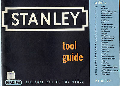 old vintage stanley tool guide 1952 use and care of tools