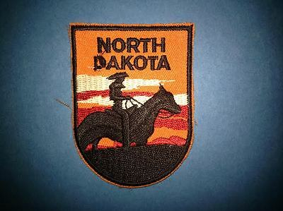 Vintage North Dakota Iron On Hat Jacket Biker Vest Backpack Travel Patch Crest B