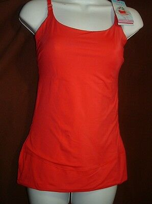 New Assets By Spanx Top This 1846 Slimming Lingerie Strap Red Camisole/tank Xl