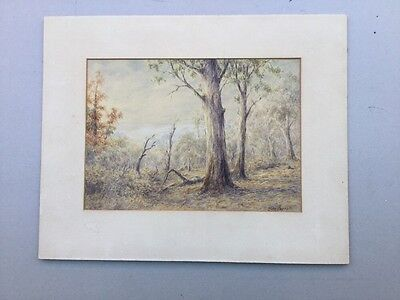 Allen Fairhall Australian Scene Watercolour Mounted