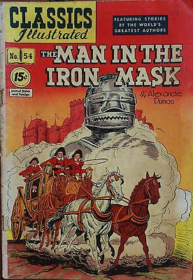 Classics Illistrated #54 15 Ct The Man in The Iron Mask Alexander Dumas