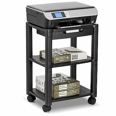 Halter LZ-308 Rolling Printer Cart Machine Stand with Cable Management - Holds U