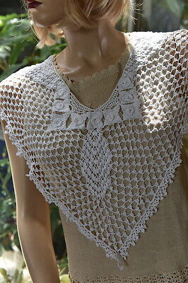 All Hand Made 100% Cotton Crochet Collar White Fit All Sizes