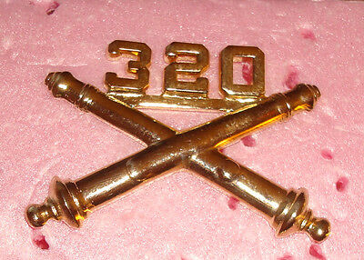 320Th Airborne Field Artillery 101St Abn Div, ,bos,officers Collar Devise