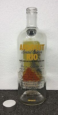 Empty Absolut Vodka Brazil Rio 1 Liter Collector Bottle