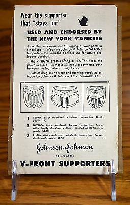 TRUMP jockstrap Vintage 1940's Athletic Supporter AD New York Yankees jock strap