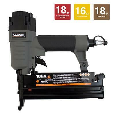 NuMax SL31 Pneumatic 18 and 16-Gauge 3-in-1 Nailer and Stapler