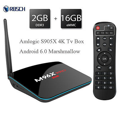 Smart Android 6.0 TV Box M96X Pro 4K Quad Cor High Speed Prosessor Wireless Wifi