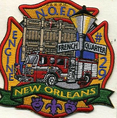 "New Orleans Engine - 29  ""French Quarter, LA (4"" x 4"" size) fire patch"