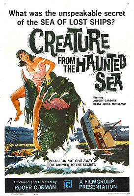 Creature From The Haunted Sea Movie Poster - 1961 - Horror - 1 Sheet Artwork