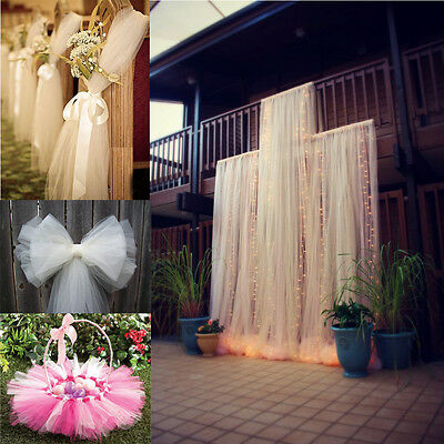 "54""x120Ft Bolt Tulle Bridal Tutu Pew DIY Craft Draping Wedding Party Decor"